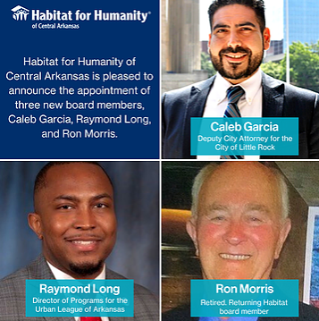 Three New Board Members Join Habitat!
